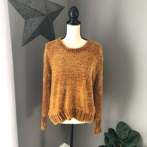 Philosophy | Dark Yellow Chenille Knit Sweater